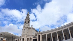Basilica of Our Lady of Rosary Tilt Camera, Portugal Stock Footage