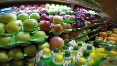 Fruit Stall at Grand Central Terminal Market, Manhattan Stock Footage