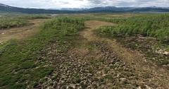 Hardangervidda plateau in Norway Stock Footage