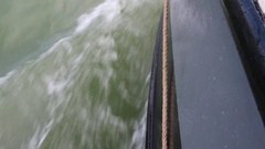 Barge bow wave Stock Footage
