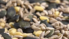 Seeds (mixed) as seamless loopable 4K footage Stock Footage
