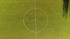Football pitch aerial shot. Stock Footage