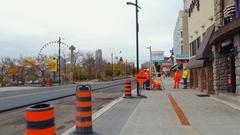 Victoria Avenue Niagara Falls construction Stock Footage
