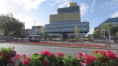 Public Library, Birmingham, West Midlands Stock Footage