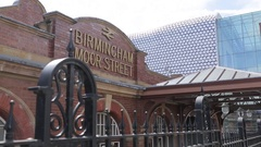 Moor Street Station & Selfidges, Bullring Shopping Centre, Birmingham, West Stock Footage