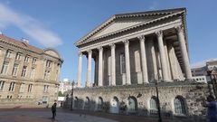 Chamberlain Square & City Hall, Museum & Art Gallery Clock Tower, Birmingham, Stock Footage