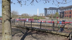 Victoria Quays in City Centre, Sheffield, South Yorkshire Stock Footage