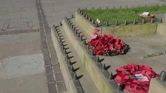 War Memorial, Derby Derbyshire Stock Footage