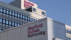 Sheffield Hallam University in City Centre, Sheffield, South Yorkshire Stock Footage