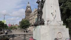Leeds City Hall, City Centre, Leeds, Yorkshire Stock Footage