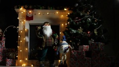 Decorated With Colourful Christmas Lights For The Festive Christmas Holidays Stock Footage