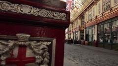 Leadenhall Market, The City, London Stock Footage