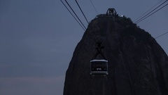 Cable Car to Sugarloaf Mountain, Rio de Janeiro Stock Footage