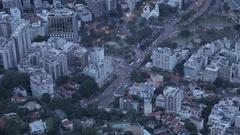 View from Corcavado of Rio de Janeiro, Rio de Janeiro Stock Footage