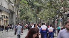 Street Scene near Igreja de S?o Francisco de Paula, Central District of Rio de Stock Footage