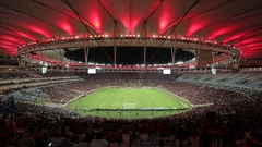 Football Match at Maracana Stadium, Rio de Janeiro Stock Footage
