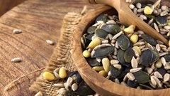 Mixed Seeds (rotating; not loopanle; 4K) Stock Footage