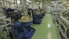 Purifier room of ship. Interior.  Stock Footage
