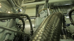 Diesel engine of ship WA slider Arkistovideo