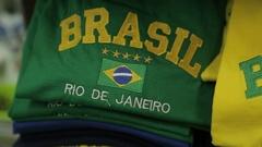 Souvenirs on Nossa Sra de Copacabana, Rio de Janeiro Stock Footage