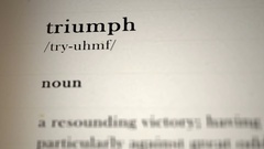 Triumph Definition Stock Footage