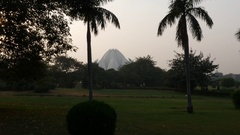 Lotus Temple (Baha'i Temple) in Delhi, India Stock Footage