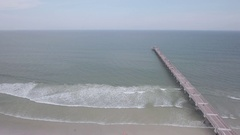 Aerial of Pier at Jacksonville Stock Footage
