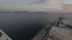 LPG tanker at sea Stock Footage