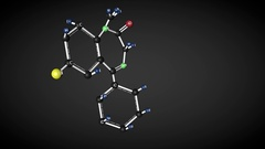 Diazepam molecule structure. Stock Footage