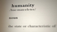 Humanity  Definition Stock Footage