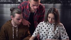 Borning of Design Teamwork Ideas Stock Footage