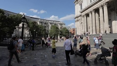 St Paul's Cathedral, London Stock Footage