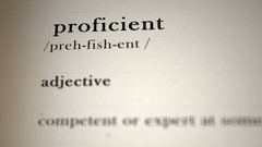 Proficient Definition Stock Footage