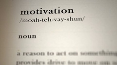 Motivation Definition Stock Footage