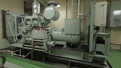 Emergency diesel generator Stock Footage