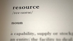 Resource Definition Stock Footage
