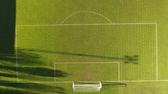 Football pitch aerial view. Stock Footage
