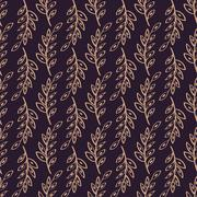 Vector sprig Seamless pattern background Stock Illustration