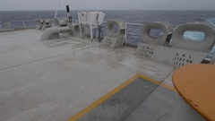 Aft of ship, hawses, rolling, windy WA POW UHD 2997 105mbps Stock Footage