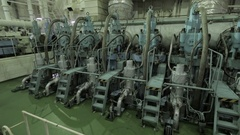 Main engine of ship Stock Footage