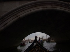 Point of view of Gondola Ride on Venice Channels. Stock Footage