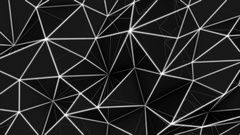 Low poly Abstract dark geometric background Stock Footage