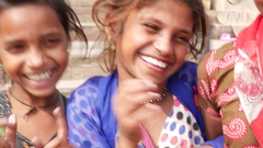 Cute Indian girls having funCu Stock Footage