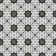 Grey Ornamental Seamless Line Pattern Stock Illustration