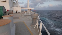 Aft starboard side of very large tanker Stock Footage