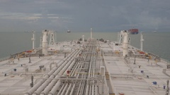 Sea route of Malacca strait Stock Footage