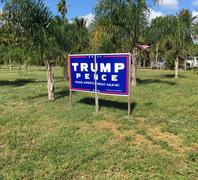 Vote for Trump sign Stock Photos