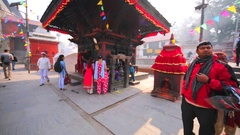 The Pashupatinath Temple in Kathmandu, Nepal Stock Footage