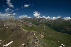 Landscape at the Grossglockner High Alpine Road, Austria Stock Photos