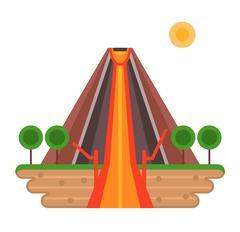 Volcano vector illustration Stock Illustration